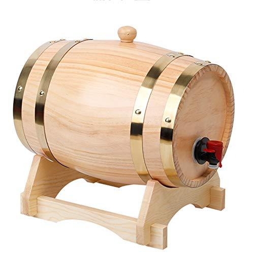 Barril Dispensador De Vino Barril De Madera Hogar Balde Artesanal De Roble Kit De AñEjamiento para Cognac Ginebra Ron Sangria Licor Cerveza 3L 5L 10L 20L 30L,1,5L