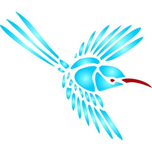 Kolibri Schablone, wiederverwendbar, große Kolibri Wand–Vorlage, auf Papier Projekte Scrapbook Tagebuch Wände Böden Stoff Möbel Glas Holz etc. m
