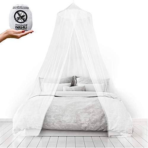 Mosquito Nets 4 U LARGE MOSQUITO NET Bed Canopy Maximum Insect Net Protection No Skin Irritation Deet Free Natural Repellent