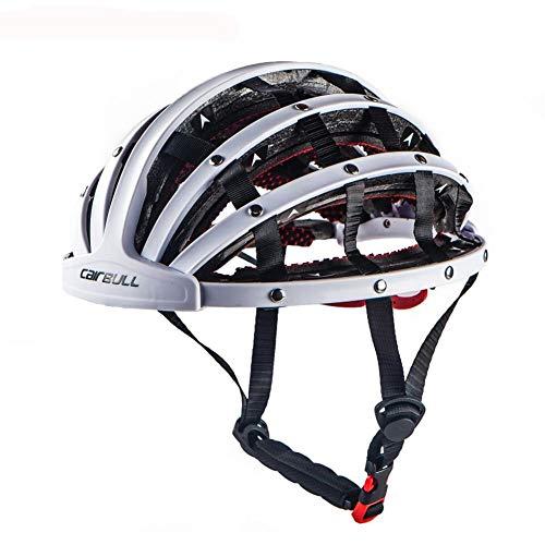 Gbike Nuevo Casco de Bicicleta Plegable de Moda, Cascos de Ciclismo Ligeros y de Seguridad portátiles City Road Bike Sports Fashion Casco de Bicicleta de Ocio,White