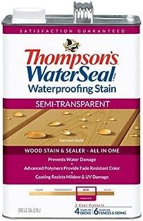 Thompsons Waterseal 42811 Semi-Transparent Harvest Gold WaterSeal Waterproofing Stain