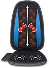 Comfier Shiatsu Back Massager with Heat -Deep Tissue Kneading Massage Seat Cushion, Massage Chair Pad for Full Back, Electric Body Massager for Home or Office Chair use
