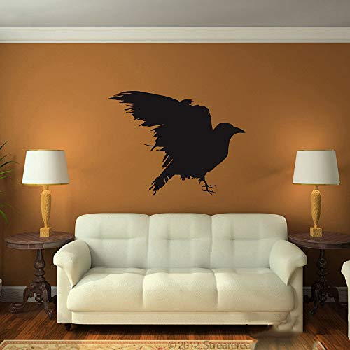 nimnae Quotes Wall Stickers Removable Vinyl Art Decal Raven Bedroom Kids Room Game of Thrones as The Author Gift Raven Bird Living Room