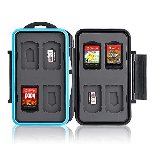Ares Foto® Opslag, Beschermingsdoos, Memory Card Case, menokaartkist voor 12 Nintendo Switch-spellen