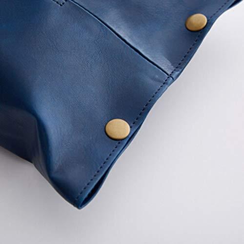 ZHongWei - Tissue Box Abdeckung Tissue Aufbewahrungsbox, Tissue Box, Lederprodukte, Original Design, Nordic Tissue Box, Tablett, Couchtisch, Tischplatte, drei Farben / - / (Color : Blue)