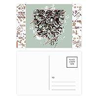 抽象的なデザインパターンのグラフィティストリート 公式ポストカードセットサンクスカード郵送側20個