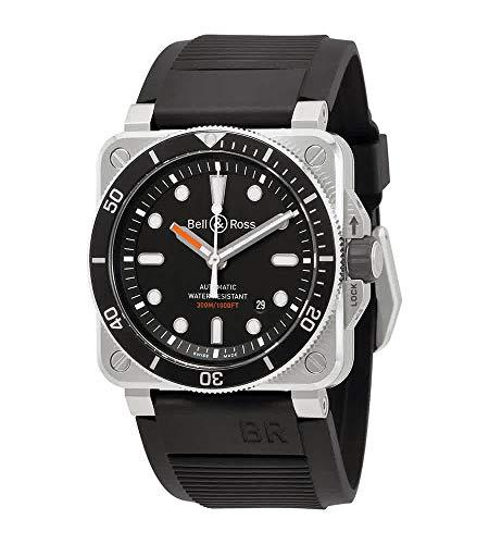 Orologio automatico da uomo Bell e Ross Diver BR0392-D-BL-ST/SRB