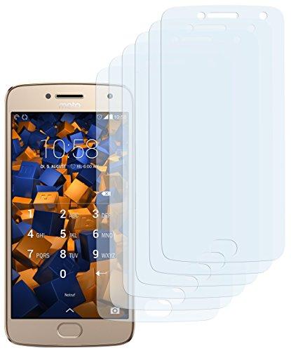 mumbi Schutzfolie kompatibel mit Lenovo Moto G5 Plus Folie klar, Bildschirmschutzfolie (6X)