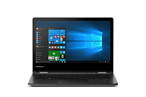 Medion Akoya E2215T MD 60256 11,6 Zoll Convertible mit Intel Atom x5-Z8350 und FullHD IPS Display   Schwarz