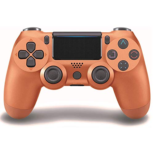 Game Controller for PS4 (Copper), Dual Vibration Compatible with Windows PC & Android OS, Wireless Bluetooth Controller for Playstation 4