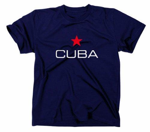 Cuba Kuba Libre T-Shirt, Flagge, Navy, XL
