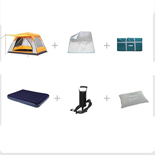 TY&WJ Family Camping tent Double layer Rainproof Teepee For outdoor sports Hiking Extended Tent 8-10...