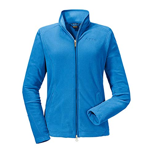 Schöffel Damen Fleece Jacket Leona Synthetisch, Ibiza Blue, 40