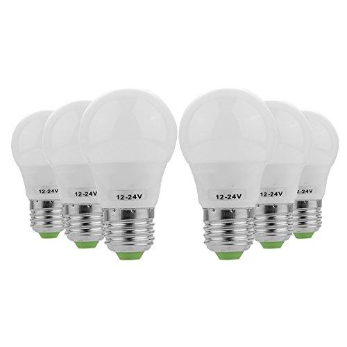 E26/E27 LED gloeilamp 3W reservelamp 30W halogeenlamp 5730 SMD energiebesparend daglicht koud wit warmwit voor keuken en woonkamer, restaurants en horeca, kantoorverlichting (verpakking van 6 stuks) vervanging