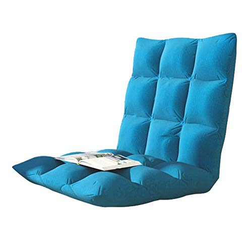 Schlafzimmer Faule Sofa Gaming-Stühle Home Einstellbare Position Memory Foam Floor Chair Hohe Zurück Home Kleine Wohnung Wohnzimmer (Color : Blue, Size : L:105 * 52 * 10CM)