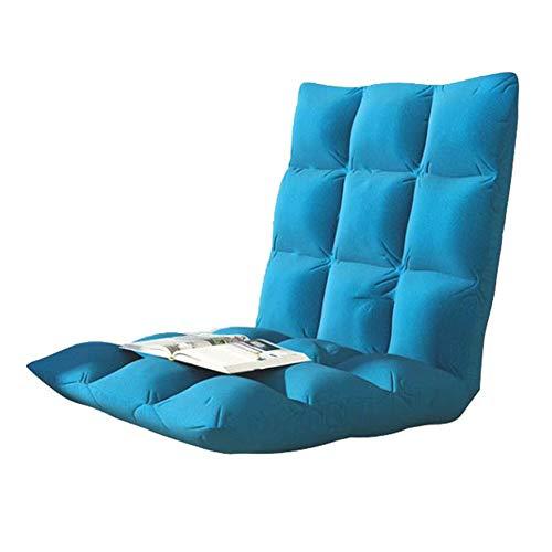 Schlafzimmer Faule Sofa Gaming-Stühle Home Einstellbare Position Memory Foam Floor Chair Hohe Zurück Home Kleine Wohnung Wohnzimmer (Color : Blue, Size : S:74 * 40 * 10CM)