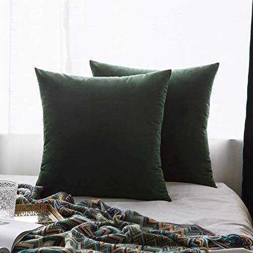 Miwaimao 26Colors almohada buque terciopelo funda de asiento de la sala de estar sofá almohadilla conjunto de color sólido funda de almohada de la funda de almohada-coche-30cmX50cm, 25