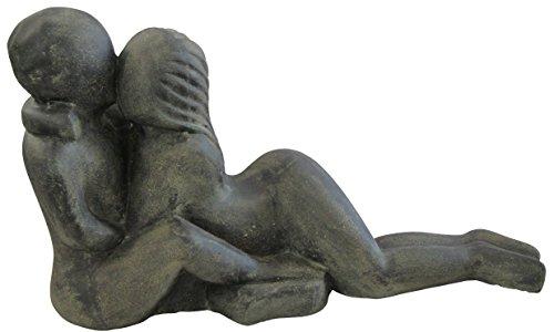 STONE art & more Couple, Liebespaar, Liegendes Paar, 80 cm, Steinfigur, Steinguss, frostfest