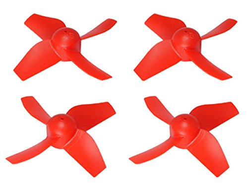 Microheli Plastic 4-Blade Propeller 31mm/1.0mm Shaft CW/CCW Set (RED)