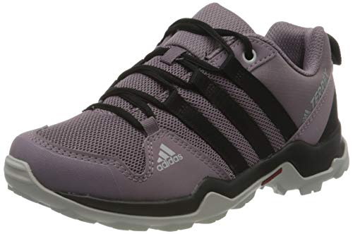adidas Unisex-Child Terrex AX2R Walking Shoe, Tech Purple/Core Black/Shock Red, 40 EU