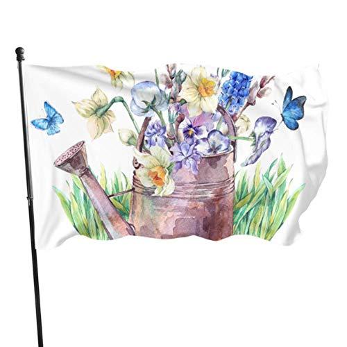 Florasun - Drapeaux décoratifs en polyester imprimé - Couleurs vives - En polyester - Qualité supérieure - Avec œillets en laiton et polyester