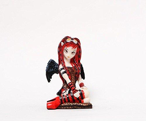 PTC 4,75Pulgadas Rojo Sexy Steampunk Hada con alas Estatua Figura Decorativa