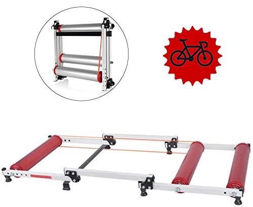 FHUILI Rodillos Bicicleta Plegable Moto - Entrenamiento la Resistencia Soporte la Bicicleta MTB...