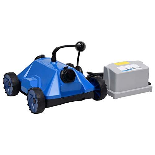vidaXL Robot Limpiador de Piscina Aspirador Automático Inteligente Limpieza limpiafondos Sistema de Navegación Preciso Portátil Sin Cables