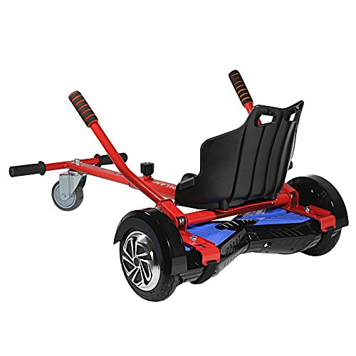 Cool Mini Kart Hoverboard Accessories for Adjustable -All Heights- All Ages- Self Balancing Scooter -Compatible with All Hoverboards (Not Included Balance Board)