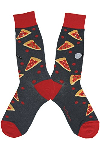 Foot Traffic, Men's Food-Themed Socks, Pizza Slice (Men's Shoe Size 7-12)
