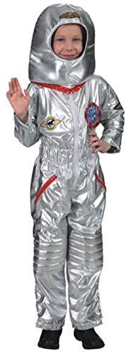 Fancy Me Astronauten-Kostüm für Jungen, Weltbuch-Weltbuch, Tag/Woche/Beruf, Uniform, silberfarben