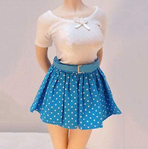 Kleding Model 1/6 Schaal Vrouwelijke Wit Shirt Blauw Rok Jurk Riem Kleding Set van toepassing op voor 12 Inch Action Figuur