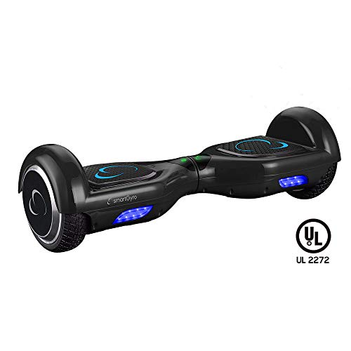 SmartGyro X2 UL v.3.0 Black - Potente Patinete Eléctrico, Ruedas de 6.5' Antipinchazos, Batería de Litio 4400 mAh, vel. Máxima 12 Km/h, Autonomía de 20 Km, Certificado UL, Color Negro