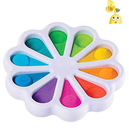 ZNNCO Flower Fidget Toys,Push pop Bubble Fidgets Toys,Stress Relief and Anti-Anxiety Tools for Kids and Adults (Multi)