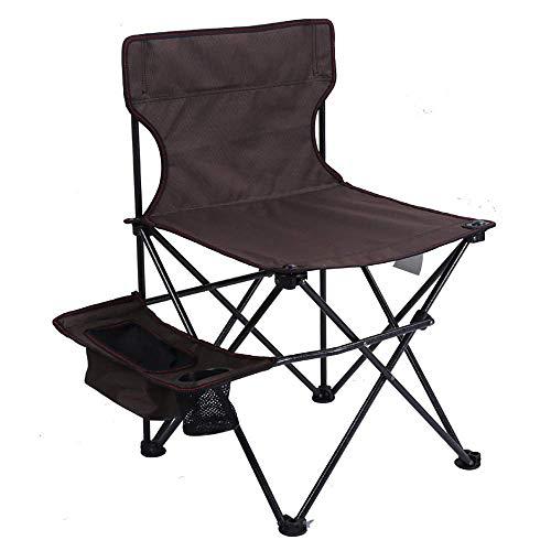 BSDBDF Chaise Pliante d'extérieur ultralégère Portable avec Sac de Transport pour Festival, Plage, randonnée Size Marron