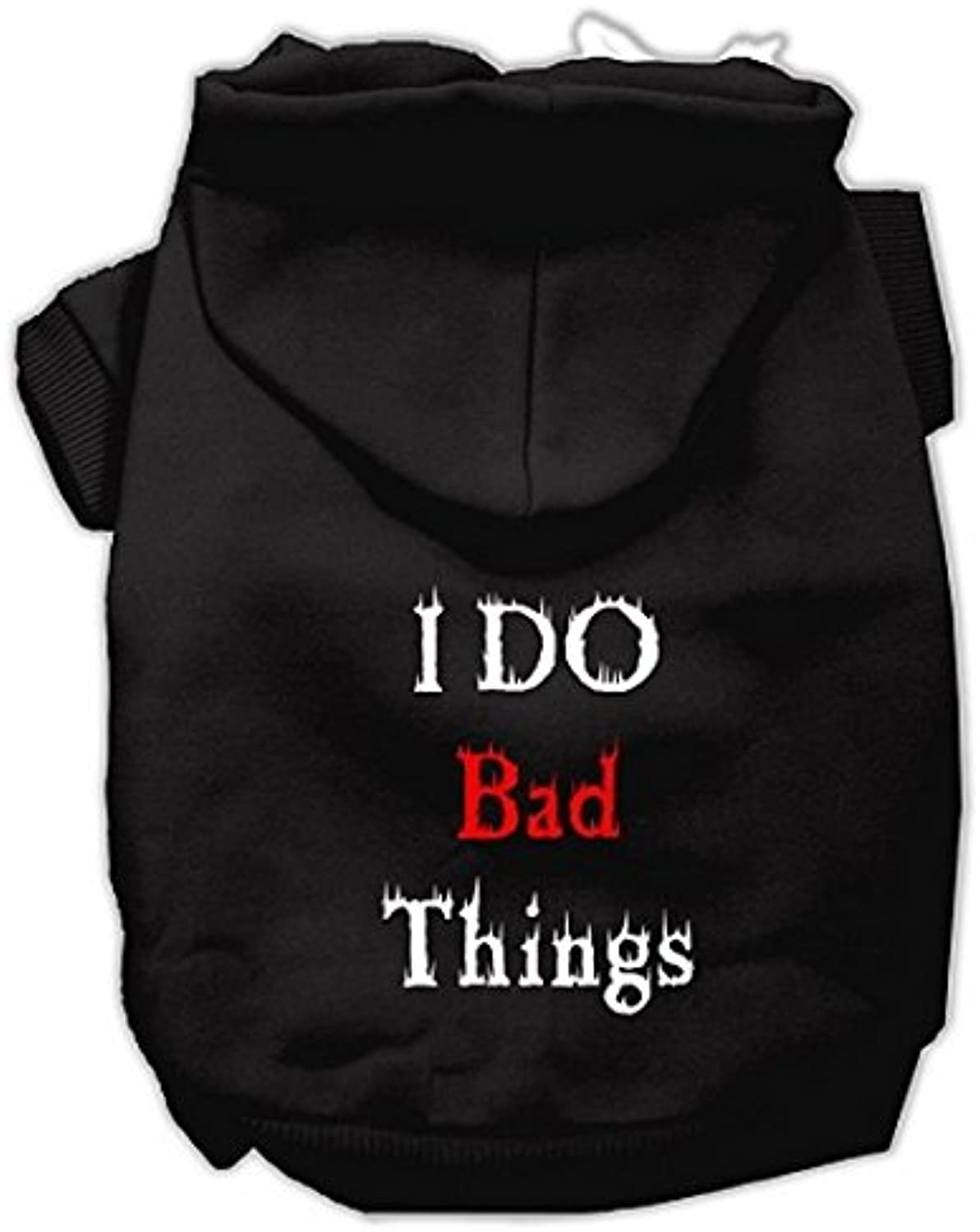 Mirage Pet Products I Do Bad Things Screen Print Pet Hoodies, Black, Large