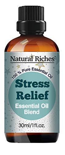 Natural Riches Stress Relief Essential Oil Blend Anxiety Essential Oil - Aromatherapy - Relaxing Soothing Calming Environment Massage to Relieve Tension - 30ml
