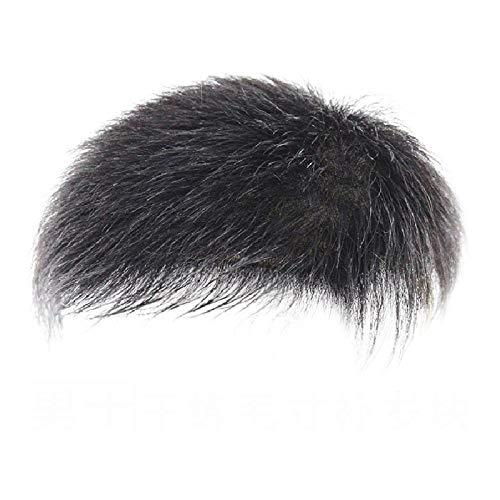 Perruque Mâle, Pièce De Cheveux Respirante Tissée À La Main Sur La Tête, Bloc De Remplacement Des Cheveux Sur La Tête