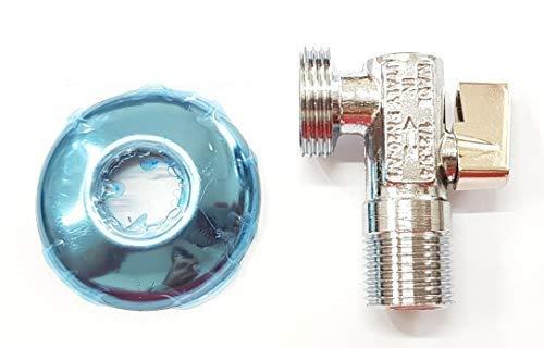 TLDSHOP Grifo de bola lavadora - Carga agua - Grifo bajo fregadero - 1/2' x 3/4'
