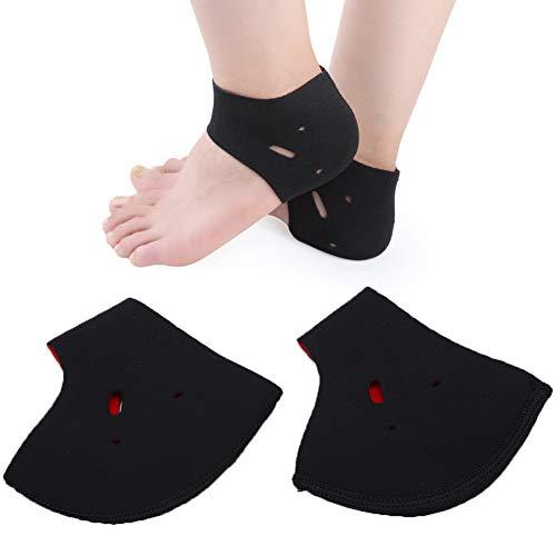 Ademende zachte hak wrap warmhoudende, pijnverzachtende sokken, hielbescherming, enkelbescherming. zwart