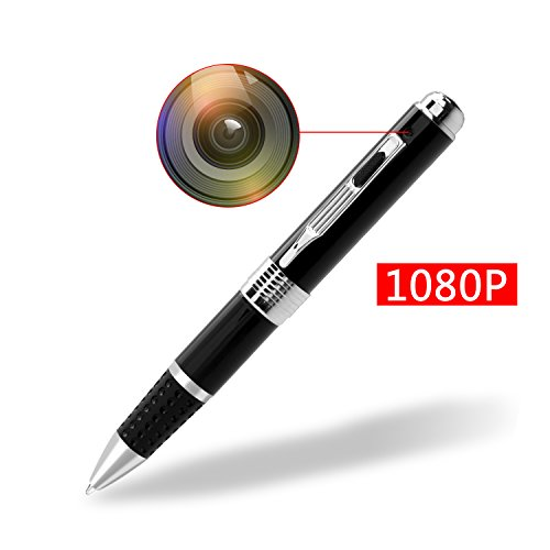 Spy Camera Pen HD 1080P Portable Hidden Camera Spy Pen Surveillance Camera with 16GB Memory Micro...