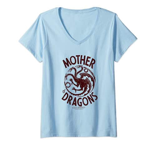 Damen Game of Thrones Mother of Dragons T-Shirt mit V-Ausschnitt