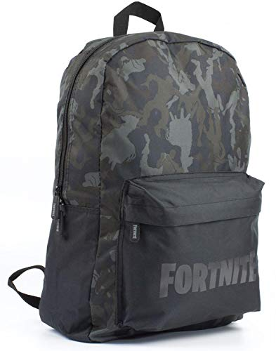 Fortnite Character Camo Llama All Over Print Black/Khaki Backpack Bag