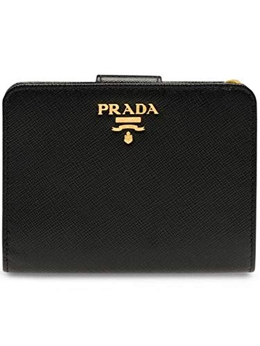 Luxury Fashion | Prada Dames 1ML018QWAF0002 Zwart Leer Portemonnees | Seizoen Permanent