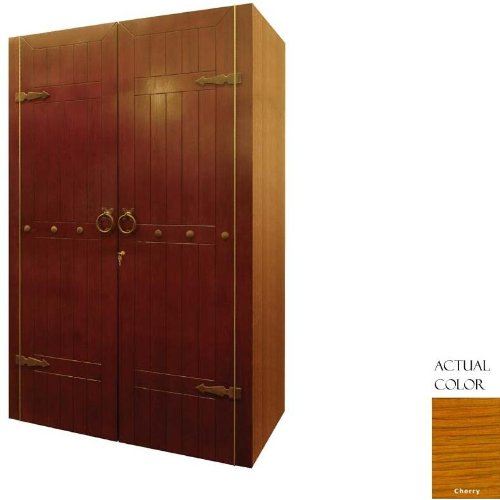 Clavos 700-Model Wine Cabinet with 2 Wood Plank Doors by Vinotemp