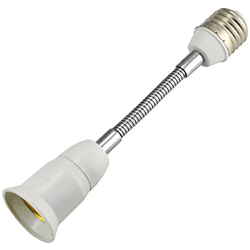 20CM E27 LED Light Bulb Lamp Holder Flexible Extension Adapter Converter Screw Socket