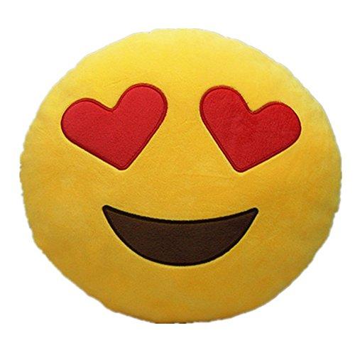 LI&HI Emoji émoticônes oreiller Rire coussin président Oreiller Coussin de siège rond (amour)