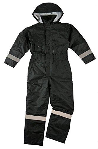 MOTAMEC Mono Impermeable Storm Suit Impermeable, Resistente a la Intemperie, Acolchado Negro, SM