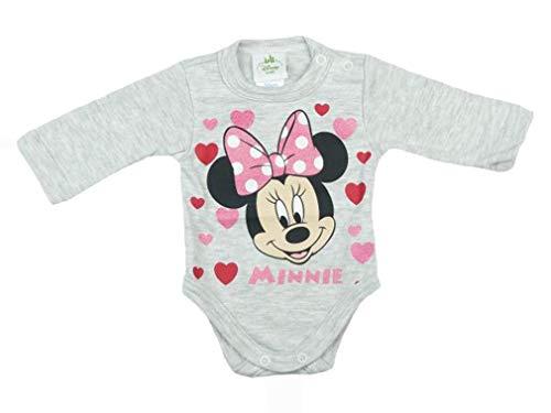Minnie Mouse Mädchen Baby Body Langarm in Rosa Weiß Gr 56 62 68 74 80 86 92 98 Disney Baby mit Kragen Wickelbody 0 6 12 18 24 Monate Farbe Modell 5, Größe 98