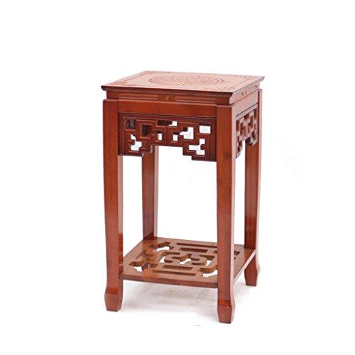 MLHJ NNIU- Support de Fleur de Bonsai de Plancher de Bois d'imitation Antique de Salon de Balcon Chinois Antique (Couleur : Rouge, Taille : Small(52 * 30))
